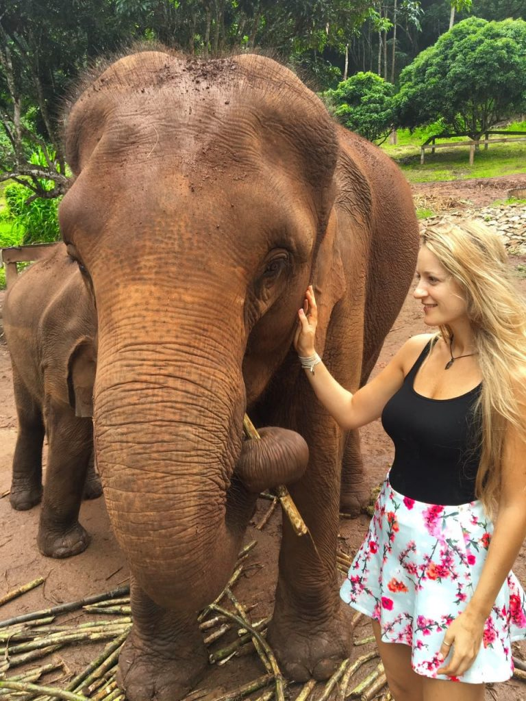 with Pilpiloni the elephant. Thailand 2016