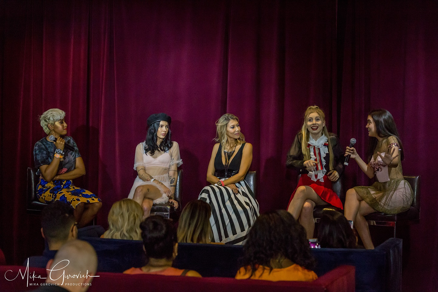 Great Q&A & Speakers at the LAFW Influencers Event.Photo by: Mika Gurevitch